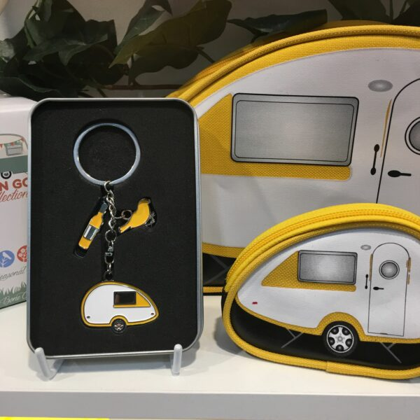 Toilettas caravan Tab teardrop geel Van Go Collections